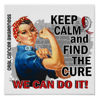 Rosie Keep Calm Oral Cancer.png Poster