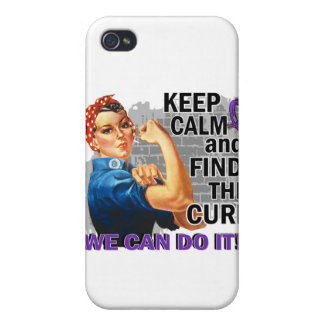 Rosie Keep Calm Pancreatic Cancer.png iPhone 4 Case