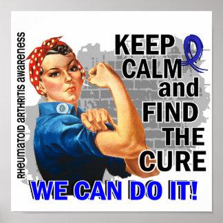 Rosie Keep Calm Rheumatoid Arthritis png Poster
