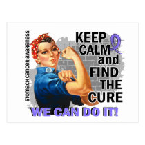 Rosie Keep Calm Stomach Cancer.png Postcard