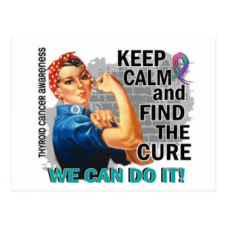 Rosie Keep Calm Thyroid Cancer.png Postcard