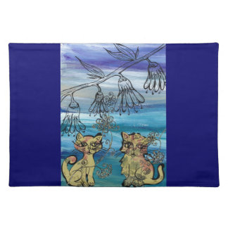Rosie Kittens Cloth Place Mat