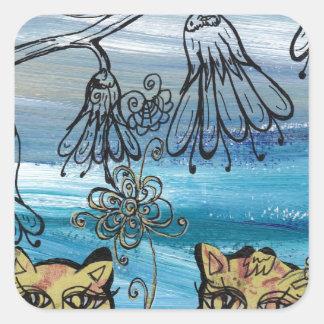 Rosie Kittens Square Sticker