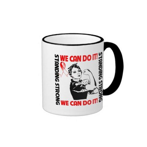Rosie la conciencia oral del cáncer del remachador taza de café