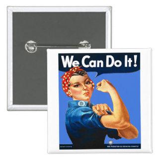 Rosie la insignia del botón del remachador pin cuadrado