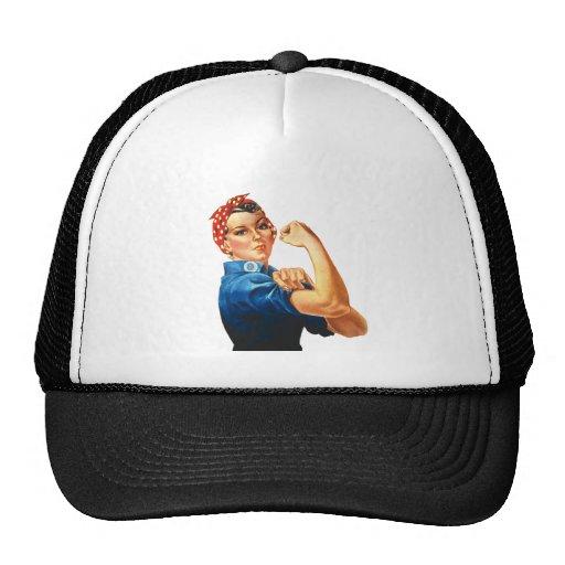 Rosie la línea de la ropa del remachador gorras de camionero
