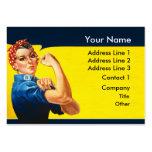 Rosie la trabajadora de esfuerzo de la guerra del  plantillas de tarjetas de visita