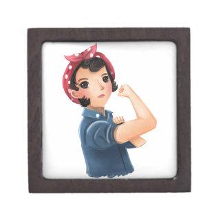 ¡rosie las mujeres del remachador podemos hacerlo! caja de joyas de calidad