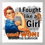 Rosie luchó al superviviente ganado de la leucemia poster