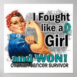 Rosie luchó al superviviente ganado del cáncer ová impresiones