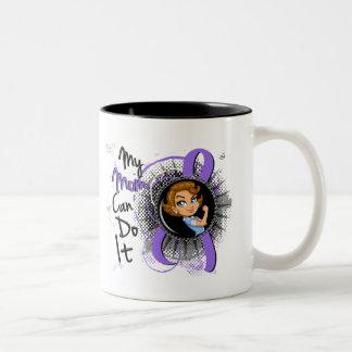 Rosie Mom Can Do It H Lymphoma Two-Tone Coffee Mug