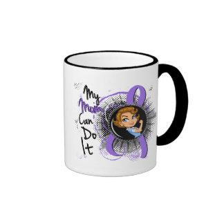 Rosie Mom Can Do It H Lymphoma Ringer Coffee Mug
