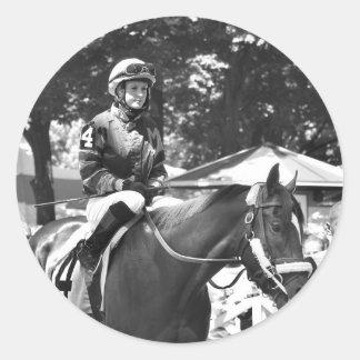"Rosie Napravnik  ""Leading Female Rider"" Classic Round Sticker"