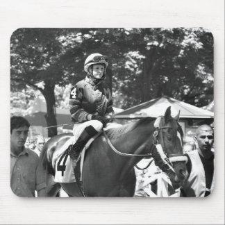 "Rosie Napravnik  ""Leading Female Rider"" Mouse Pad"