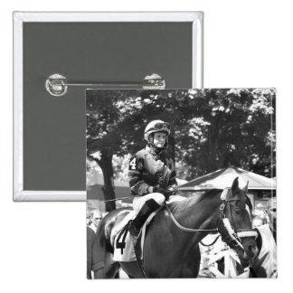"Rosie Napravnik  ""Leading Female Rider"" Pinback Button"
