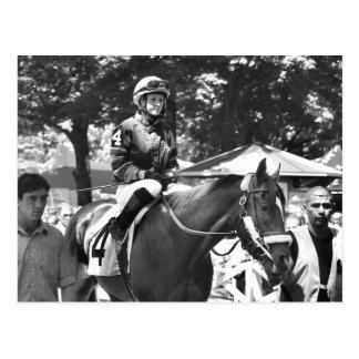 """Rosie Napravnik  """"Leading Female Rider"""" Postcard"""