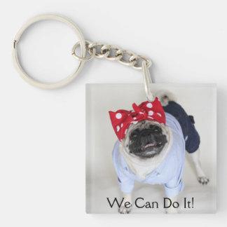 Rosie Pug Riveter Key Chain Acrylic Key Chain