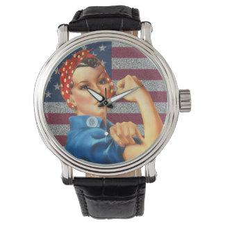 Rosie retro para mujer el reloj del remachador