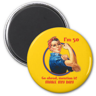 Rosie Riveter 50th Birthday Magnet