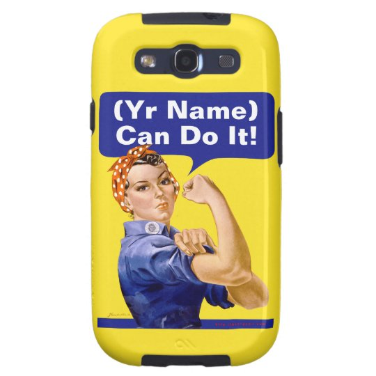 """Rosie Riveter """"(______) Can Do It!"""" Samsung Galaxy SIII Cover"""