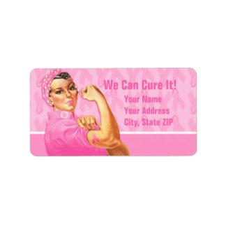 Rosie Riveter Custom Cancer Address Label