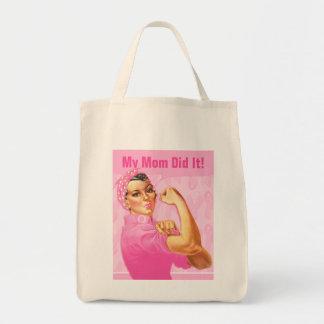Rosie Riveter Custom Cancer Tote Bag