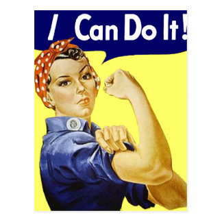 Rosie Riveter - I Can Do It Glenn Beck Poster Postcard