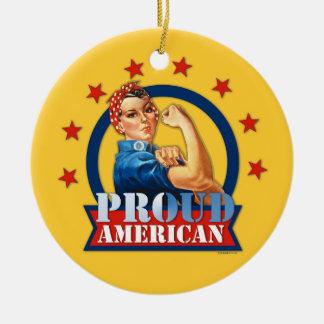 Rosie Riveter Proud American Ornament