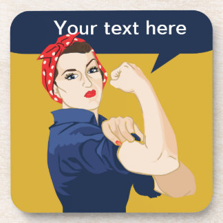 Rosie Riveter Strong Woman Coasters