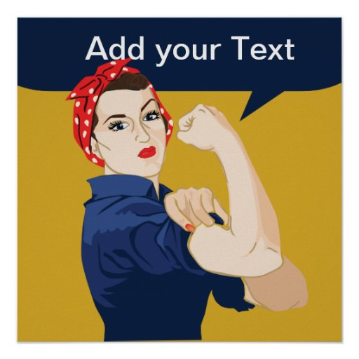 Rosie Riveter Strong Woman Poster