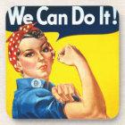 Rosie Riveter Vintage Propaganda Coaster