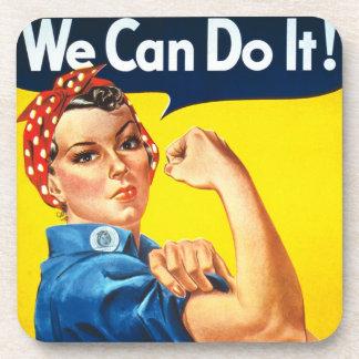 Rosie Riveter Vintage Propaganda Beverage Coasters