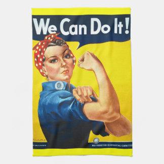 Rosie Riveter Vintage Propaganda Towel