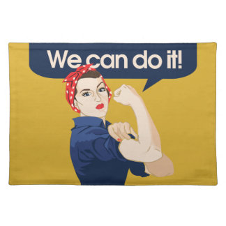 Rosie Riveter We can do it Cloth Placemat