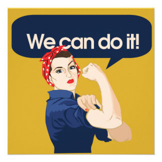 Rosie Riveter We can do it Invite