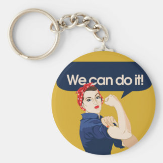 Rosie Riveter We can do it Keychain