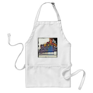 Rosie Riveter Works on the Rail Road WWII Adult Apron