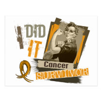 Rosie Sepia I Did It Appendix Cancer.png Postcard