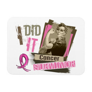 Rosie Sepia I Did It Breast Cancer.png Rectangular Magnet