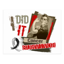 Rosie Sepia I Did It Carcinoid Cancer.png Postcard