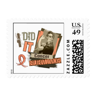 Rosie Sepia I Did It Endometrial Cancer.png Postage Stamp