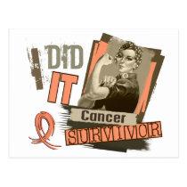 Rosie Sepia I Did It Endometrial Cancer.png Postcard