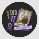 Rosie Sepia I Did It Hodgkin's Lymphoma.png Classic Round Sticker