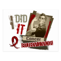 Rosie Sepia I Did It Multiple Myeloma.png Postcard