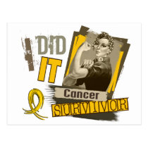 Rosie Sepia I Did It Neuroblastoma.png Postcard