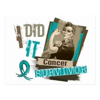 Rosie Sepia I Did It Ovarian Cancer Postcard