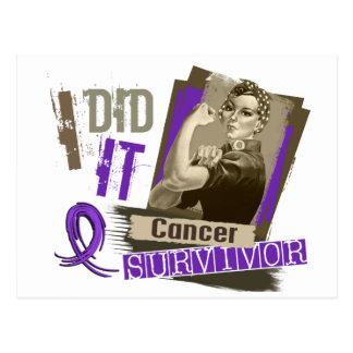 Rosie Sepia I Did It Pancreatic Cancer Postcard