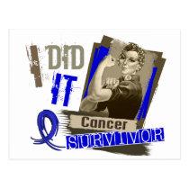 Rosie Sepia I Did It Rectal Cancer Postcard