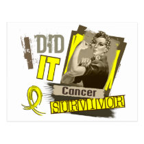 Rosie Sepia I Did It Sarcoma Postcard