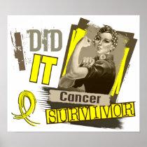 Rosie Sepia I Did It Sarcoma Poster
